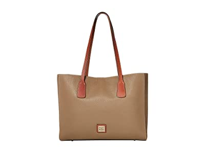 Dooney & Bourke Pebble Ashton Tote (Light Taupe/Tan Trim) Handbags