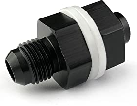 8AN Fuel Cell Bulkhead Fitting Adapter Aluminum AN8 Locking Nut 8 AN Male Flare Thread with Teflon Washer