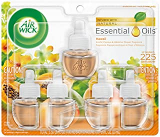 Air Wick plug in Scented Oil 5 Refills, Hawaii, (5×0.67oz), Essential Oils, Air Freshener