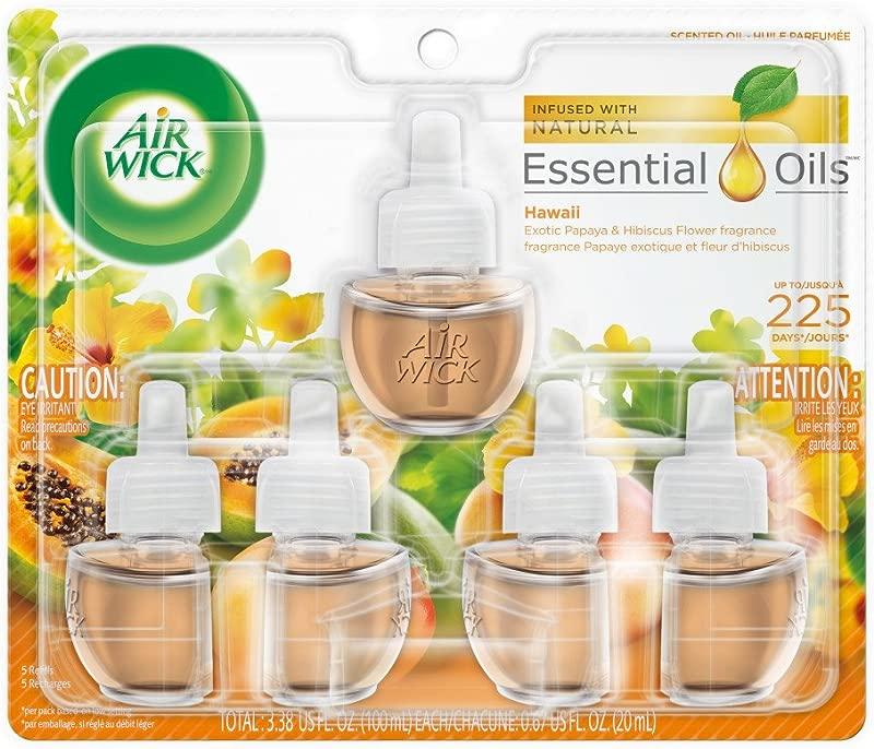 Air Wick Plug In Scented Oil 5 Refills Hawaii 5x0 67oz Essential Oils Air Freshener