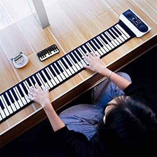 Vvave 61 Keys Hand Roll Electronic Piano (Black) Durable (Color : Black)