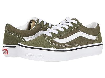 Vans Kids Old Skool (Little Kid) (Grape Leaf/True White) Kids Shoes