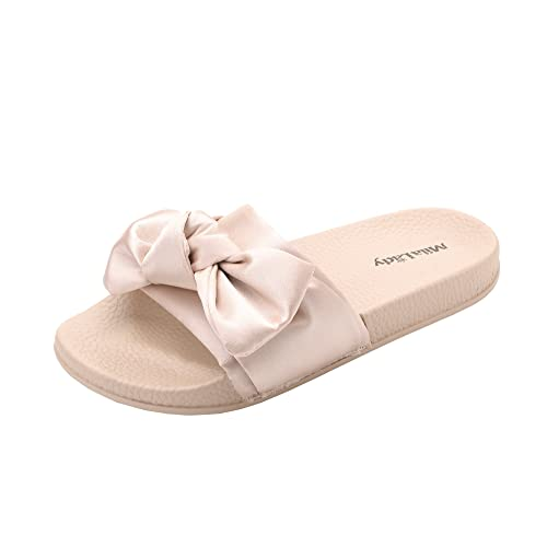 d02eff67e74a Womens Summer Anti-Skid Fuzzy Slides Sandals Slipper for Outdoor Beach  Casual Shoes