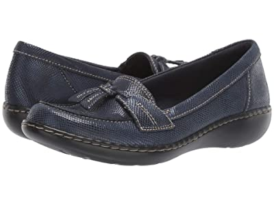 Clarks Ashland Bubble (Navy Snake Leather) Women