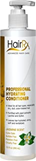 HairRx Professional Hydrating Conditioner with Pump, Jasmine Scent, 10 Ounce
