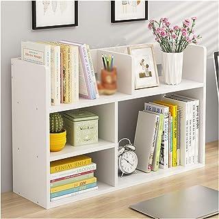 Desktop Bookshelf, Desk Shelf, Solid Wood Storage Small Bookcase, Student Home Office Bookcase Bookshelf, Desktop Space Sa...