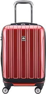"DELSEY Paris Helium Aero International Carry on Expandable Spinner Trolley - 19"", Brick Red (Red) - 07640RD"