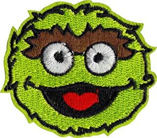Sesame Street - Oscar The Grouch - Embroidered Iron on Patch