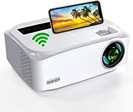 WiFi Projector, Groview Native 1080P Video Projector, 8000 Lumen Home Projector, Supports 5G+2.4G WiFi, Support 4K, with Z...