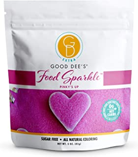 Good Dee's Food Sparkle Pinky's Up - All Natural Coloring & Sugar Free Food Glitter (0 Net Carbs) | Gluten Free Edible Dus...
