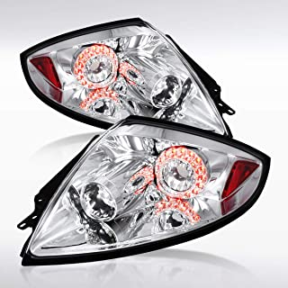 Autozensation For Mitsubishi Eclipse Chrome Clear LED Rear Tail Brake Lights Pair
