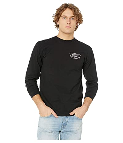 Vans Full Patch Back Long Sleeve Tee (Black/Violet Ice) Men