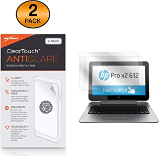 BoxWave HP Pro x2 612 G2 Tablet Screen Protector, [ClearTouch Anti-Glare (2-Pack)] Anti-Fingerprint Matte Film Skin for HP Pro x2 612 G2 Tablet