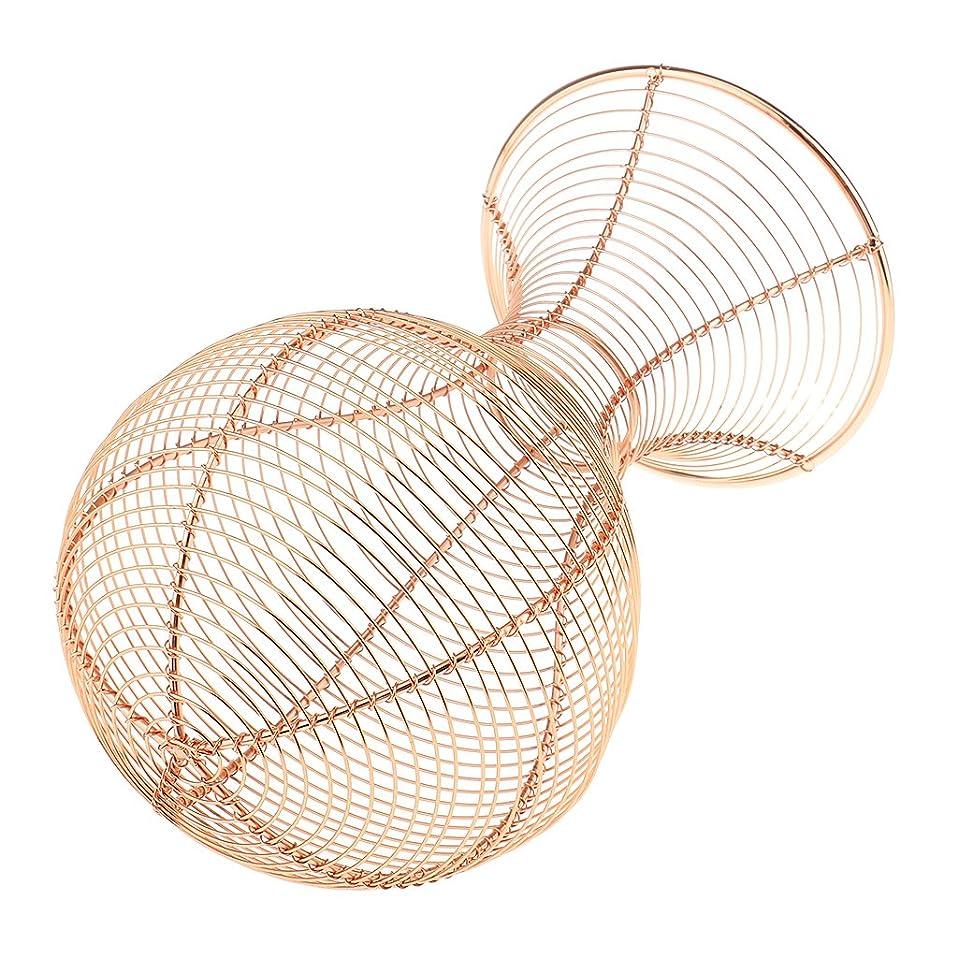 旋回復活させるさまようjoyMerit 3色金属かつら髪マネキンヘッド帽子キャップディスプレイホルダースタンドツール収納ラックショップサロンホーム - ピンクゴールド