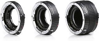 Movo MT S68 Makro Verlängerungsrohr Set für Sony Alpha DSLR Kamera, A Mount Lens System mit 12 mm, 20 mm, 36 mm Röhren