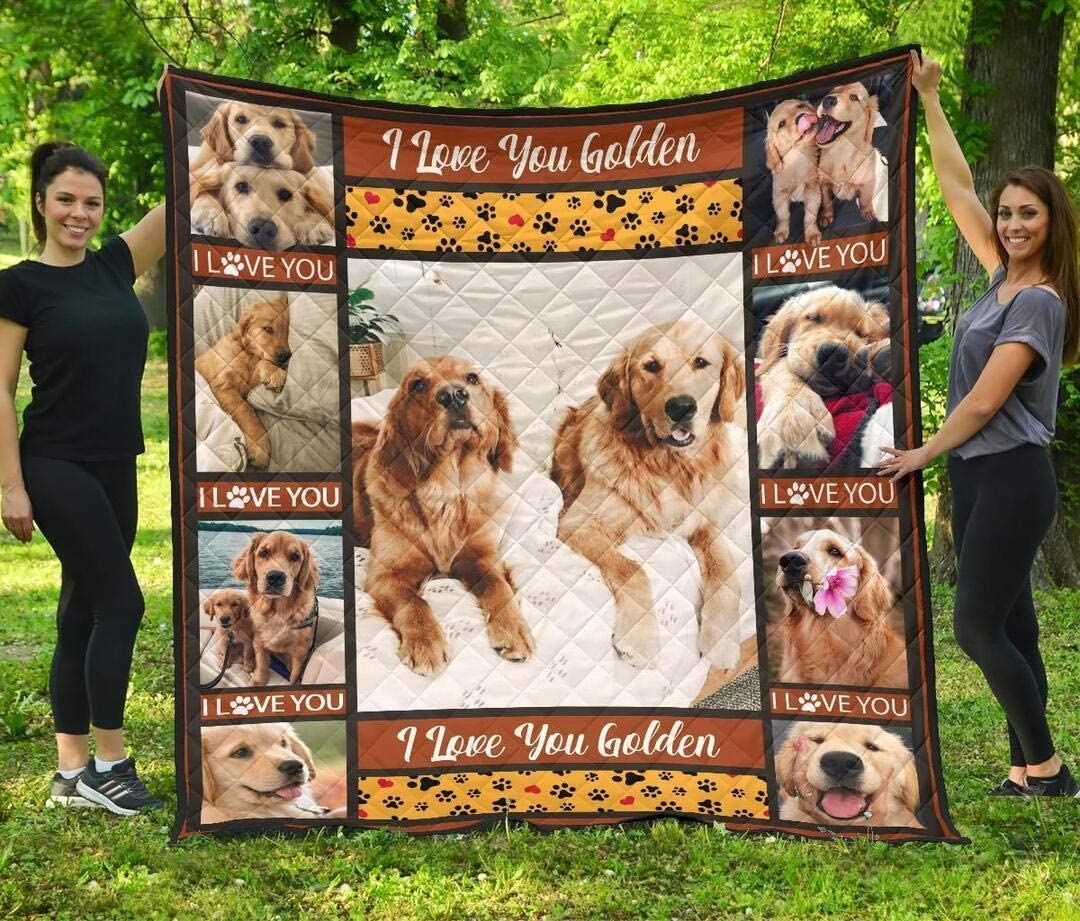 Personalized Golden Quilt Gift Excellent for Lovers SEAL limited product Birthday fo Your
