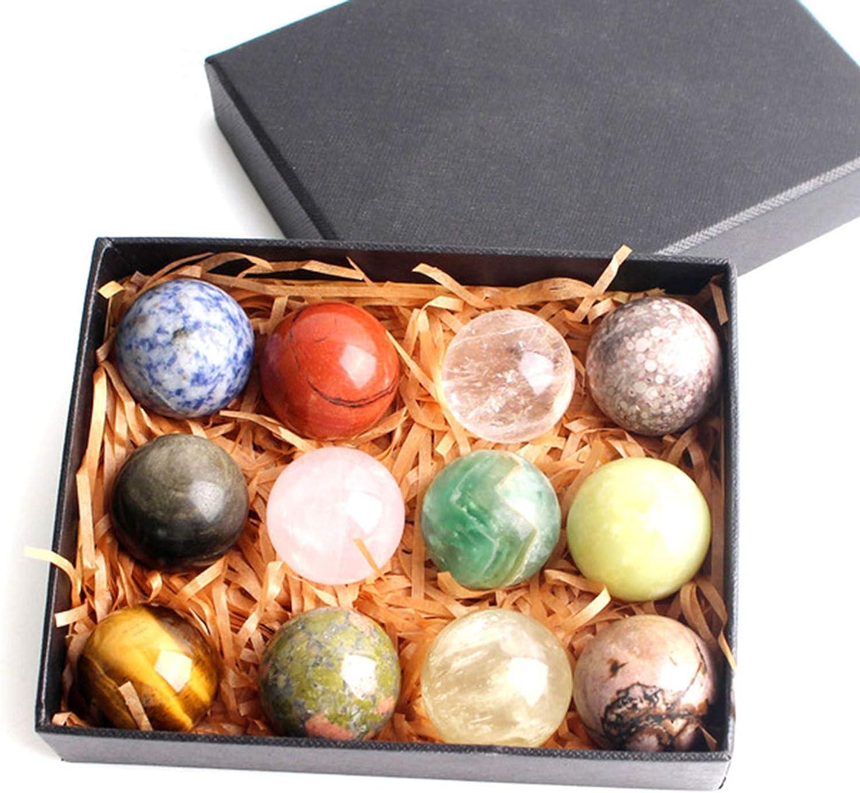 12Pcs Mixed Natural Crystal Free Shipping New Ball 7 Quartz Sphere Amethyst C store