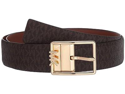 MICHAEL Michael Kors 35 mm Reversible Logo Belt (Chocolate) Women