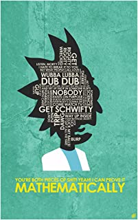 Rick and Morty, I CAN Prove IT MATHEMATICALLY Word Art Print Poster (12