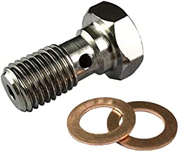 Stainless Steel M10x1.25 Banjo Bolts Brake Line Fittings Adapter M10 Metric Thread Single Banjo Bolt Universal