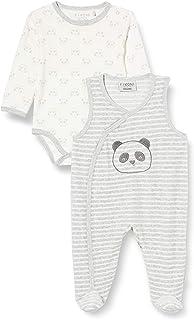 Fixoni Unisex Baby Body Long Sleve with Romper Strampler Set