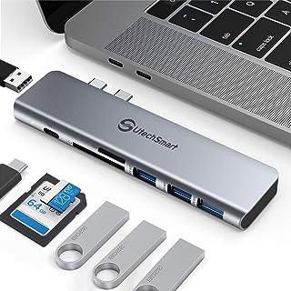 Hub USB C Hub, Adattatore USB C Multiporta 7 in 2 MacBook Aluminum Thunderbolt 3 Hub Tipo C, 3 Porte USB 3.0&USB 2.0, TF SD Card Reader, PD Compatibile con MacBook Pro Air 13''' 15'' 2018 2019 2020