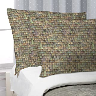 ArtzFolio Tiled Art D6 Pillow Cover Cases Satin Fabric 27x18inch (68.6x45.7cms); Single; Without Filler