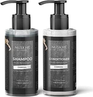 Nuskhe By Paras Charcoal Keratin Biotin & Argan Shampoo & Conditioner For Frizz Free & Stronger Hair For Men & Women, 200 ml