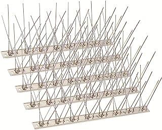 SEEKSEE 10 Pack Bird Spikes –13 inch Anti-Bird Nails Bird Repellent Metal Bird Deterant Spinners of Stainless Steel Bird S...