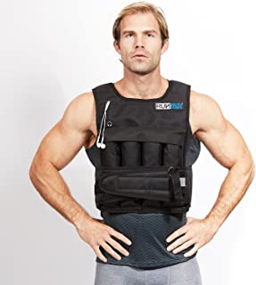 RUNmax Run Fast 12lb-140lb Weighted Vest (with Shoulder Pads, 20lb)