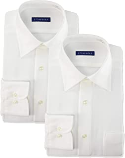 [スティングロード] ワイシャツ パーフェクトノーアイロン 長袖レギュラーカラー 2枚セット 超形態安定 ストレッチ 豊富な42サイズ レギュラーフィット ニットシャツ ST1000-AM-2 メンズ