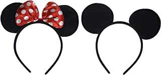 Mouse headband Children birthday party supplies Mouse Ears Baby Hairs Accessories Girl Headwear party decoration baby shower Halloween Set of 2