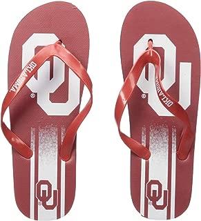 NCAA Oklahoma Sooners Unisex Unisex Gradient Big Logo FLIP FLOPOKLAHOMA Unisex Gradient Big Logo FLIP Flop Medium, Team Color, M