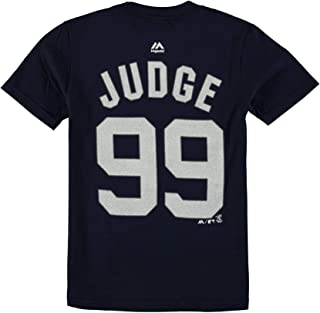 Aaron Judge New York Yankees #99 Navy Youth Name and Number Jersey T-Shirt