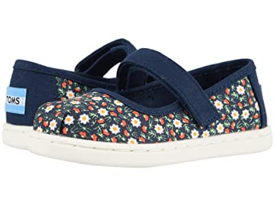 TOMS Kids Mary Jane (Toddler/Little Kid) (Navy Local Floral Print) Girl