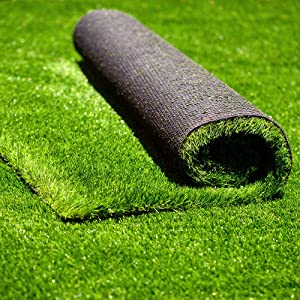 Conscience Trading Artificial Grass 7 FT x 13 FT ( 91 Square ft ) Synthetic Thick Lawn Astro Turf Carpet Perfect for Indoor/Outdoor Fake Grass Rug Garden Landscape