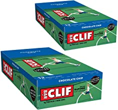 CLIF BAR - Energy Bars - Chocolate Chip Protein Bars - (2.4 oz Bars, 12 Count, 2-Pack) - Packaging May Vary