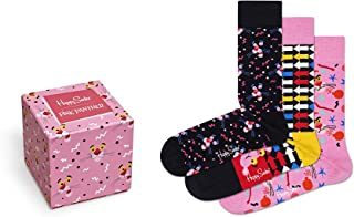 Happy Socks Calcetines Unisexo Pink Panther Gift Box Paquete de 3 Tamaño 36-40