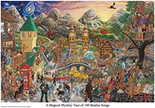 Picture Peddler Laminated Magical Mystery Tour of 100 Beatles Songs Tom Masse Music Poster 22x32 inch