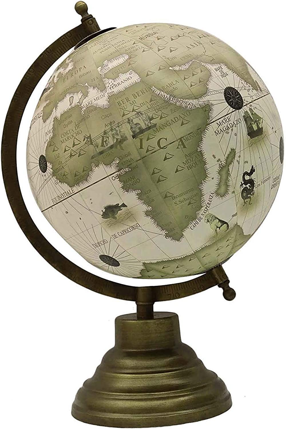 12.7  redating Desktop Earth White Ocean Globe World Geography Table Decor by Globes HubPerfect for Home, Office & Classroom