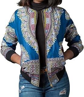 Women African Print Long Sleeve Dashiki Short Jacket