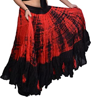 tie dye gypsy skirts