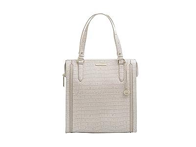 Brahmin Terrace Large Caroline Shoulder Bag (Ivory) Handbags