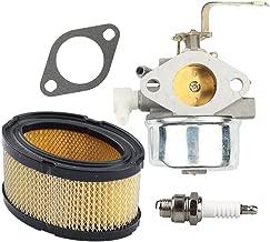Hilom 640152 Carburetor for Tecumseh 640152 640260 640023 640051 640140 640152A HM80 HM90 HM100 LH318XA LH358EA Carb Snow Blower Oregon 50-655 Rotary 13154 8-10 HP Engines with Air Filter Spark Plug