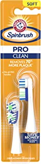 Arm & Hammer Spinbrush PRO Series Clean Replacement Brush Heads, Soft, 2 Count