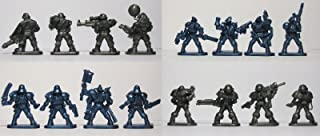 Set of 16 Fantasy Armored Infantry Toy Soldiers 40 mm Tehnolog