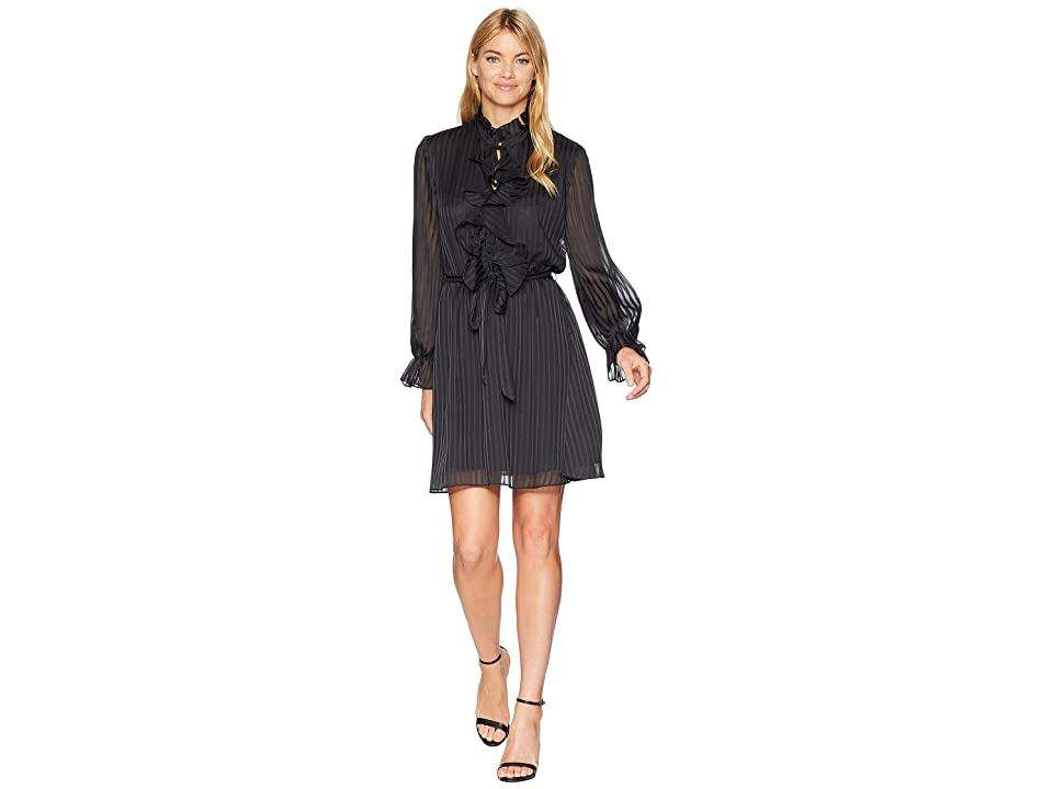 Bardot Lou Wrap Dress (Black) Women