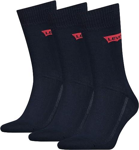 Levi's Unisex Socks-Regular Cut-Batwing Logo (3-Pack) (Pack of 3)