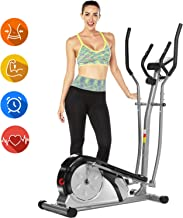 ANCHEER Elliptical Machine, Elliptical Exercise Trainer Machine with LCD Monitor and..