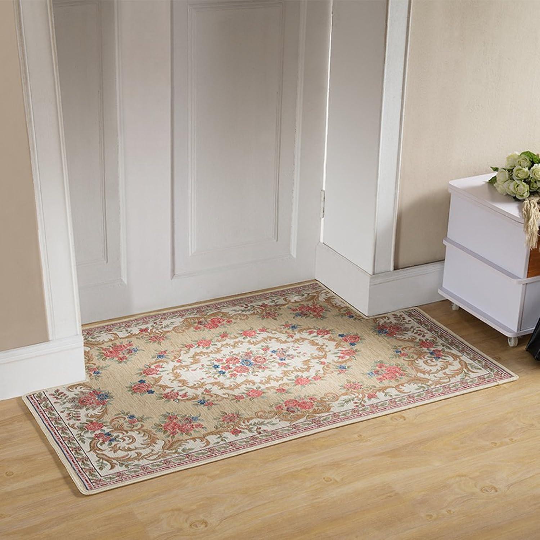 European-Style Entrance Door mats Door Entrance Floor mats Bedroom Kitchen Bathroom Water Slip Door mat Step pad-D 80x120cm(31x47inch)